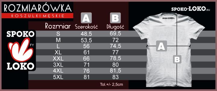 rozmiarówka męska koszulki z nadrukiem SPOKO LOKO Koszulkolandia